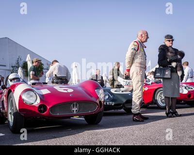 Sussex Trophy, Goodwood Revival 2014, Rennen, Autorennen, Oldtimer, Chichester, Sussex, Vereinigtes Königreich, - Stockfoto