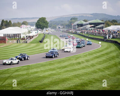 Fordwater Trophy, beim Goodwood Revival 2014, Rennsport, Oldtimer, Goodwood, Chichester, Sussex, England, Großbritannien - Stockfoto