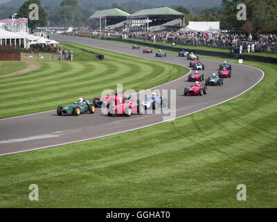 Richmond-Trophy, beim Goodwood Revival 2014, Rennsport, Oldtimer, Goodwood, Chichester, Sussex, England, Großbritannien - Stockfoto