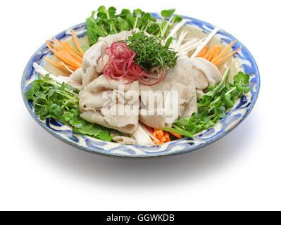 Kalte Sommerküche : Rei shabu kalte schweinefleisch salat japanische sommer