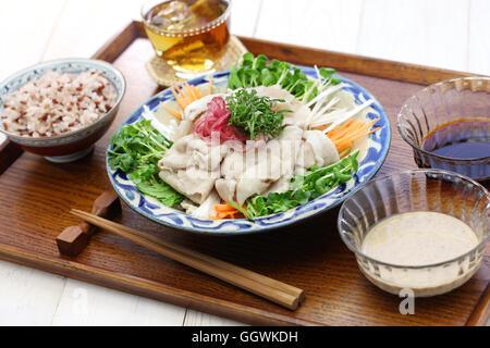 Kalte Sommerküche : Rei shabu kalte schweinefleisch salat japanischen sommer küche