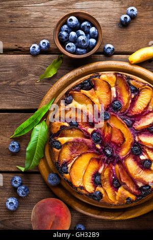 Pfirsich-Kuchen - Stockfoto