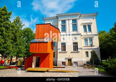Suomen Arkkitehtuurimuseo, Museum für finnische Architektur mit KoKoon Holzgebäude, Helsinki, Finnland