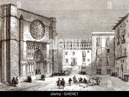 Santa Maria del Mar, Ribera Viertel, Barcelona, Spanien, 18. Jahrhundert - Stockfoto