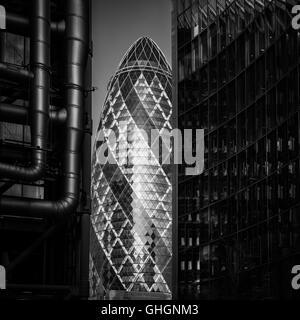 Die Gurke Bürogebäude, City of London, London, Vereinigtes Königreich Stockfoto
