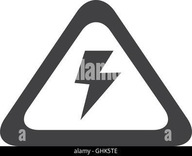 Blitz-Strom-Sicherheit-Zeichen-Symbol Vektor Abbildung - Bild ...