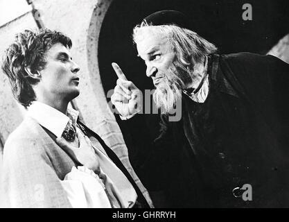 Der Kaufmann von Venedig TV-Inszenierung von Otto Schenk / 1968 Fritz Kortner, der Unvergessliche Mime des Deutschsprachigen - Stockfoto