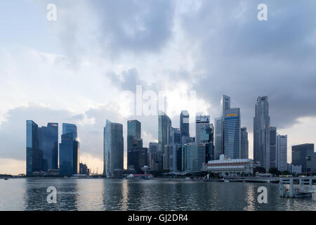 Singapur, Singapur - 30. Januar 2015: Skyline Skyline der Innenstadt-Bezirk - Stockfoto