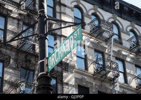 Obstgarten Straßenschild, NYC - Stockfoto