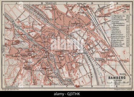 Karte Bamberg Landkarte.Bamberg Antiken Stadt Stadt Attraktivem Bayern Karte