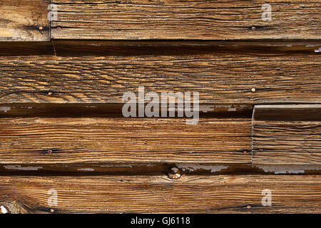 Alte Holzbretter auf Gebäude, Nahaufnahme usa - Stockfoto