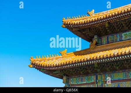 die Verbotene Stadt in der Halle der Dachkonstruktion - Stockfoto