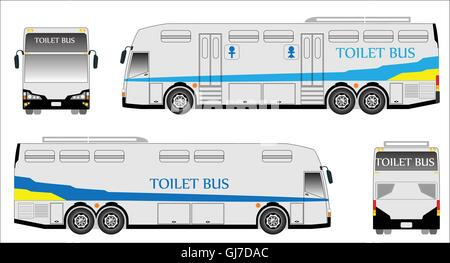 mobile toiletten bus vektor abbildung bild 114490162 alamy. Black Bedroom Furniture Sets. Home Design Ideas