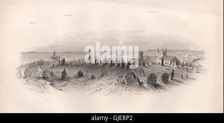 Die Bestattung Hill, PLYMOUTH, Massachusetts. Pilgerväter. BARTLETT, 1854 - Stockfoto