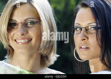 Frau Lachen lacht - Stockfoto