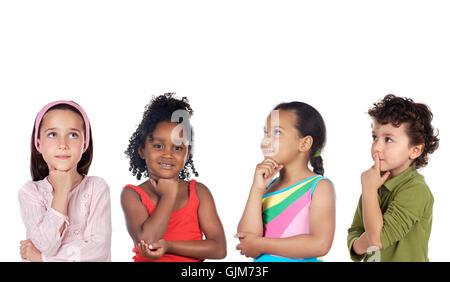 Gruppe Kind denken - Stockfoto
