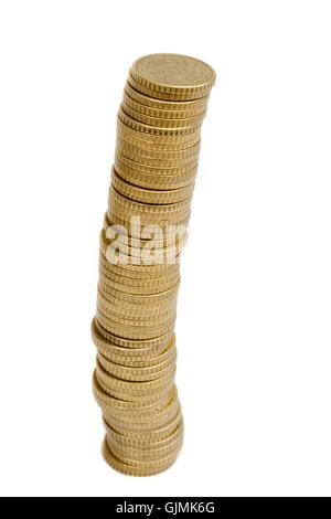 Währung-Heap-Stapel - Stockfoto