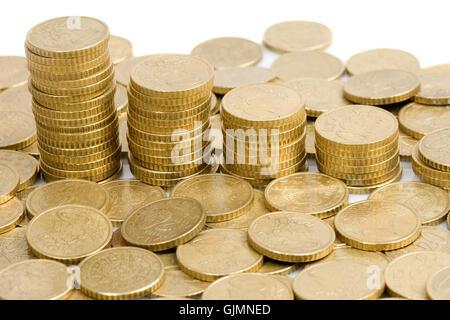 Währung-Euro-Münze - Stockfoto