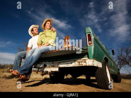 barfuß Cowboy western - Stockfoto