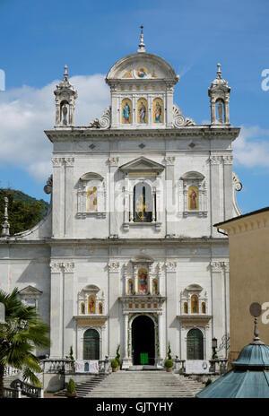 die Basilika, Sacro Monte di Varallo, Varallo Sesia, Piemont, Italien - Stockfoto