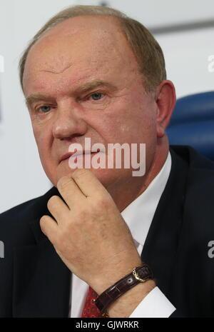 Moskau, Russland. 18. August 2016. Der Führer der kommunistischen Partei von Russland (CPRF), Gennady Zyuganov, - Stockfoto
