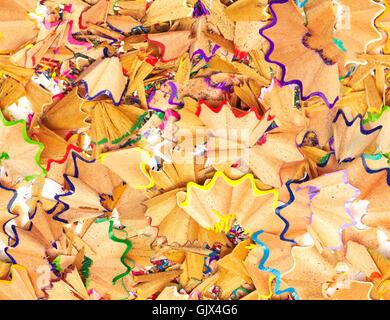 Nahtlose Textur bunten Bleistift Späne - Stockfoto