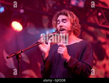 Glastonbury Festival, Somerset, 26. 20. Juni 2016, Matt Corby die live auf der Bühne John Peel - Stockfoto
