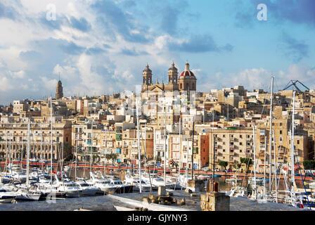 Blick auf Senglea drei Städte malta - Stockfoto