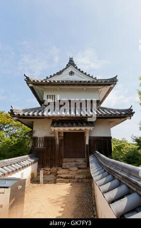 Nijuyagura Turm von Bitchu Matsuyama Schloss (ca. 17. Jahrhundert), Takahashi, Japan - Stockfoto