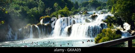 Wasserfall Park Europas - Stockfoto
