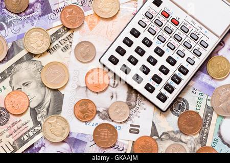 Münzen-Rechner - Stockfoto
