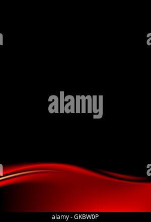 Roter Vorhang auf schwarzem Hintergrund. Vorlage Papier Größe a4 Hochformat. Luxus-Kulisse mit Welle Streifen im - Stockfoto
