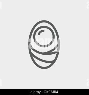 Menschliche Zelle dünne Liniensymbol - Stockfoto
