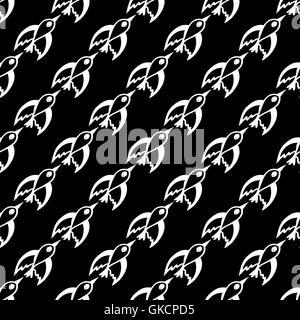 nahtlose Muster mit Zugvögeln - Stockfoto