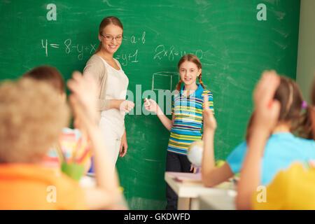 Frau Studie Menschen - Stockfoto