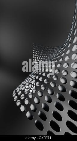 abstrakte gerundeten Metallplatten - Stockfoto