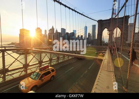 USA, New York, New York City, Brooklyn Bridge - Stockfoto