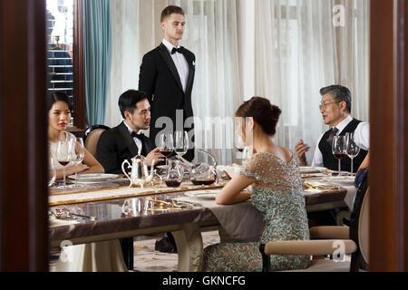 Aristokratische Familien-dinner - Stockfoto