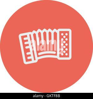 Orgel-dünne Linie-Symbol - Stockfoto