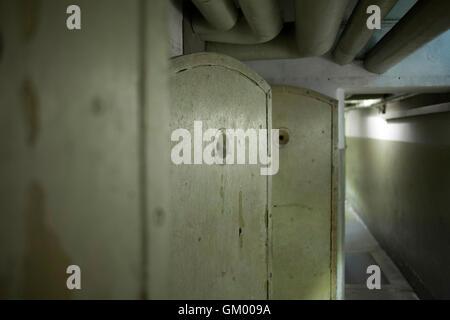 Haft Zellen im EL-DE-Fraktion den Nationalsozialismus Dokumentation Center Köln Köln Deutschland-ehemalige Gestapo - Stockfoto