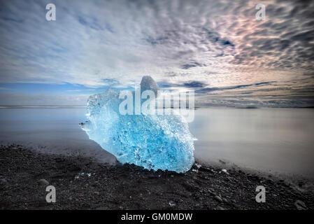 Jökulsárlón, Eisberg, Vatnajökull-Nationalpark, Breidamerkurjokull Gletscher, Island - Stockfoto