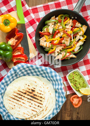 internationale Küche mexikanischen Rezept Fladenbrot mit Fleisch ...