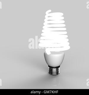 Energiesparende Glühbirne - Stockfoto