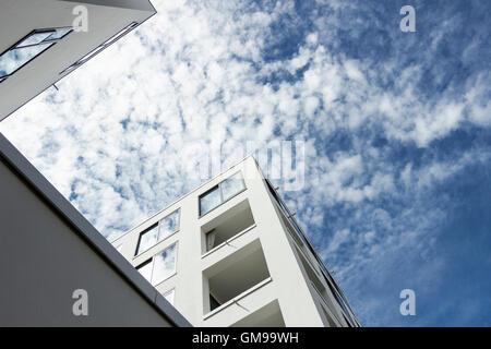 Deutschland, Berlin, Teil der Fassade des Collegium Hungaricum - Stockfoto