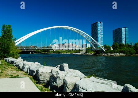 Humber Bay Bogenbrücke Toronto Ontario Kanada - Stockfoto