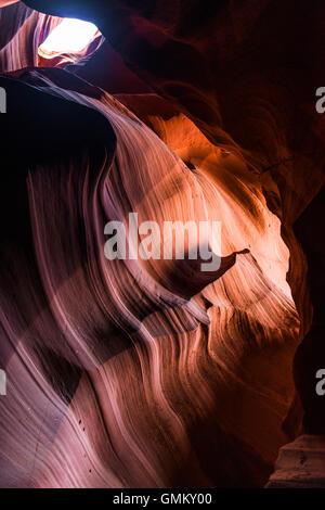Der Antelope Canyon, Page, Arizona, USA - Stockfoto