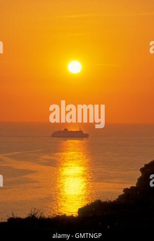 Seaford Kopf Sonnenuntergang - Stockfoto