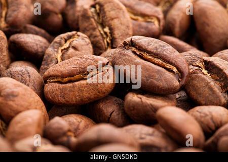 Kaffeebohnen-Makro