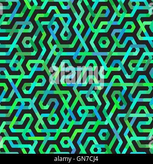 Nahtlose Multicolor unregelmäßige Linien Vektormuster - Stockfoto