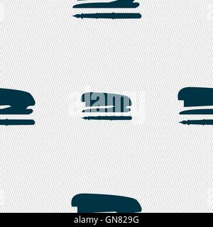 Hefter und Stiftsymbol unterzeichnen. Nahtlose Muster mit geometrischen Struktur. Vektor - Stockfoto